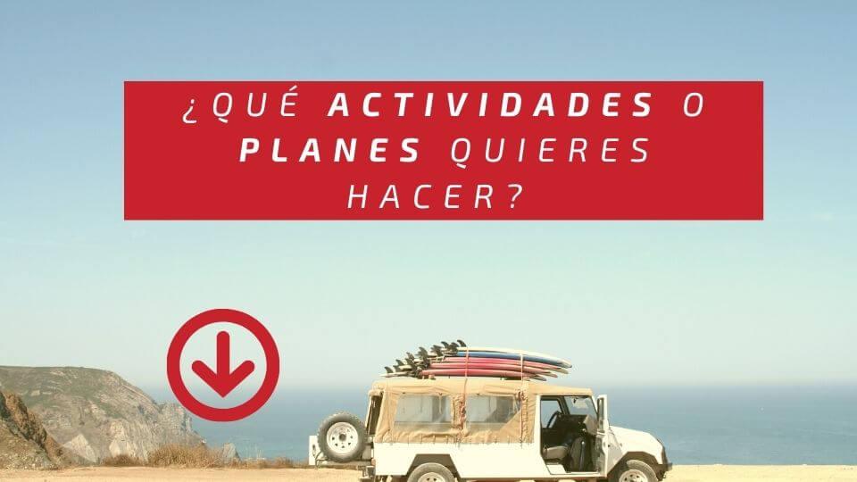 ¿Qué actividades o planes quieres hacer en Lanzarote