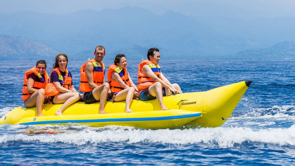 Diversión en Lanzarote; Banana boat