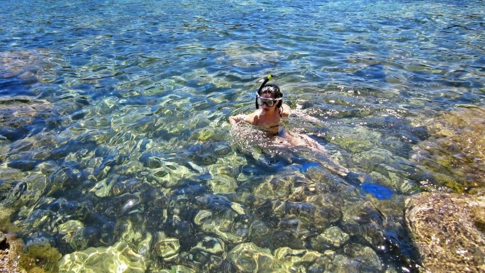 Hacer snorkel en la costa de Playa Blanca