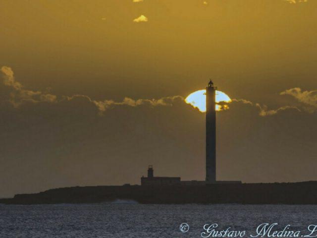 Puesta de sol en el Faro de Pechiguera